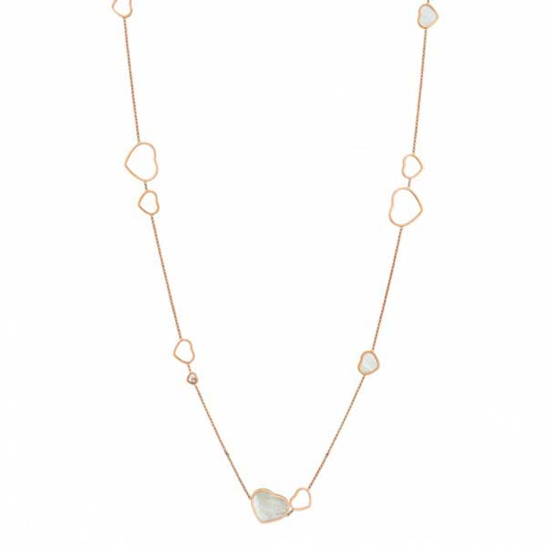 Chopard Happy Hearts Diamond & Mother of Pearl Sautoir Necklace