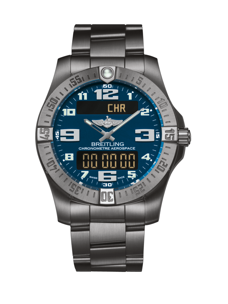 Breitling Aerospace Evo Blue Titanium Watch