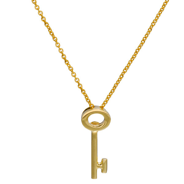 Roberto Coin Tiny Treasures 18kt Yellow Gold Key Necklace