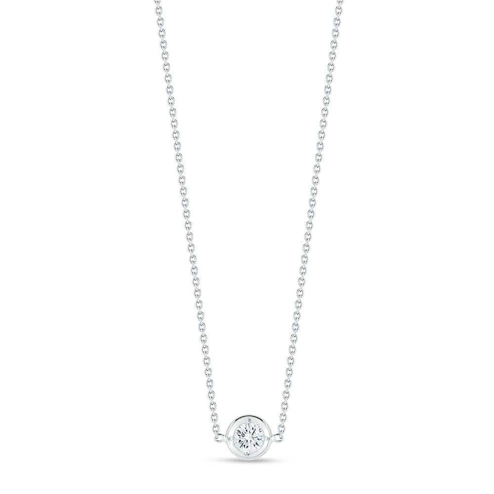 Roberto Coin Diamonds By The Inch White Gold Diamond Necklace