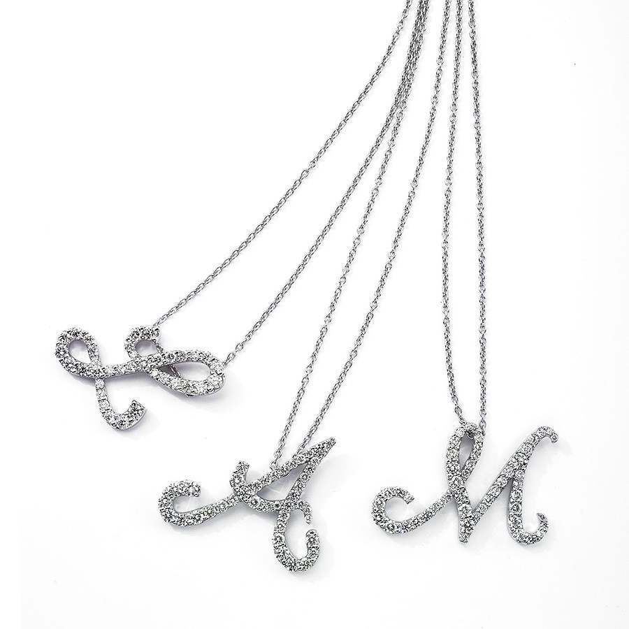 Roberto Coin Tiny Treasures Diamond Cursive Initial X Necklace GROUP 1