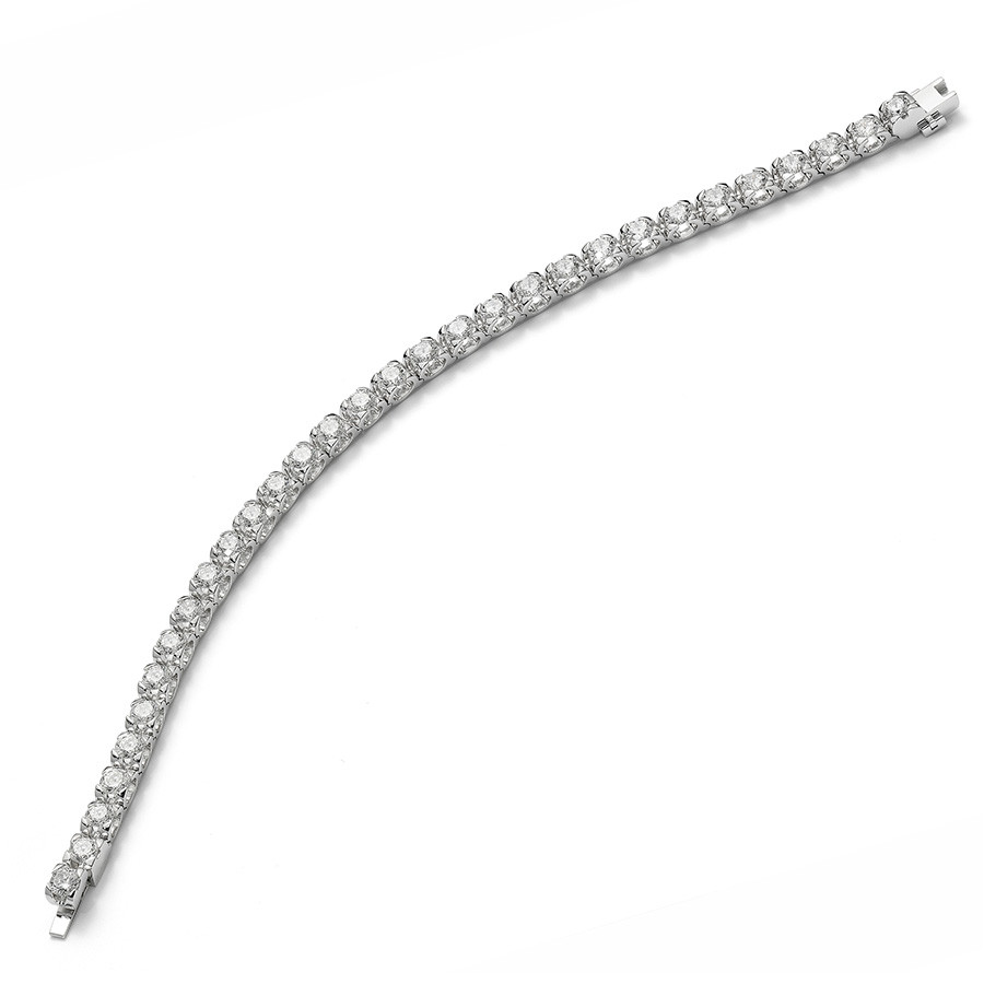 Roberto Coin 2.50ct Cento C Profile Line Bracelet Angle View