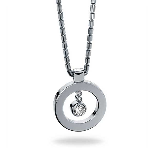 Roberto Coin Cento White Gold Diamond O Pendant Necklace