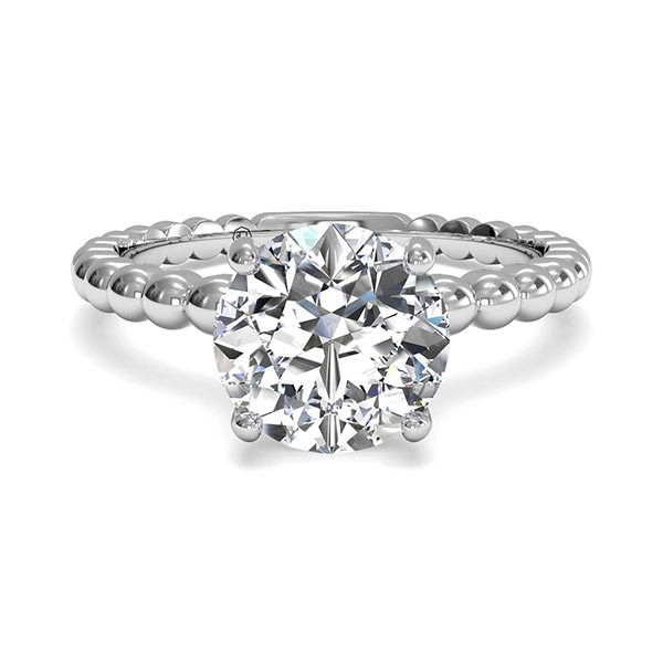 Ritani Solitaire Beaded Engagement Mounting