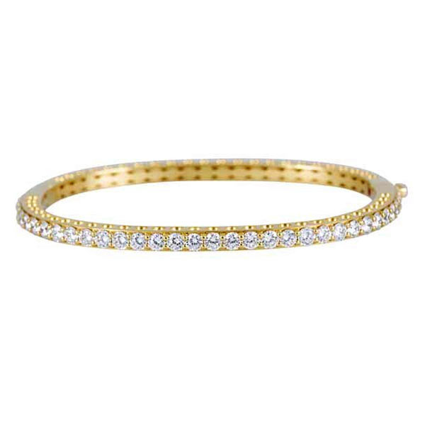 Roberto Coin Cento Yellow Gold Diamond Bangle