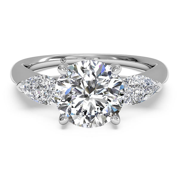 Ritani Pear Side Stone Engagement Mounting