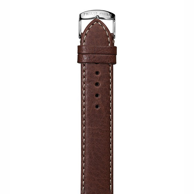 Philip Stein 20mm Signature Dark Brown Leather Strap