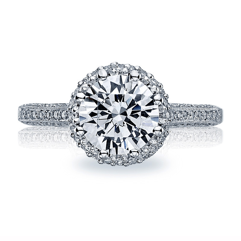 Tacori 2502-RDP Simply Tacori Platinum Bloom Engagement Setting