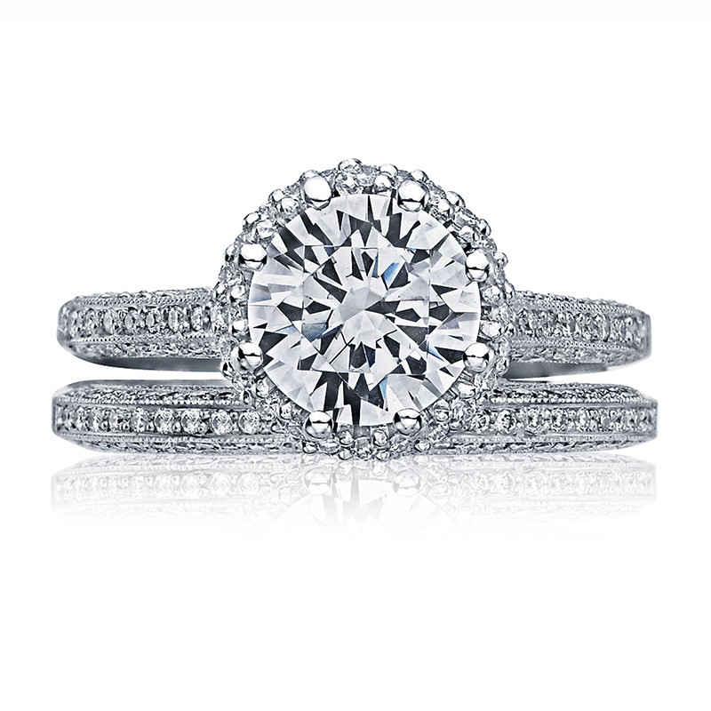 Tacori 2502-RDP Simply Tacori Platinum Bloom Engagement Setting with Band