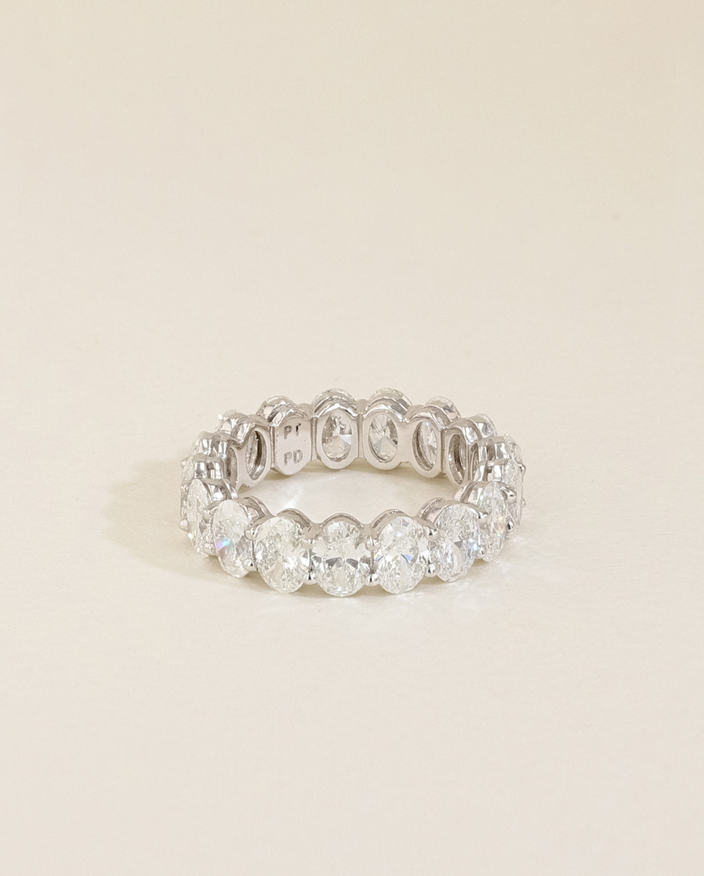 Oval Diamond Eternity Ring front view