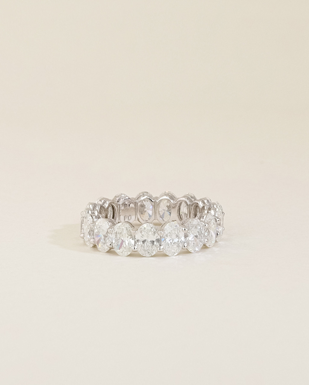 Oval Diamond Eternity Ring low view