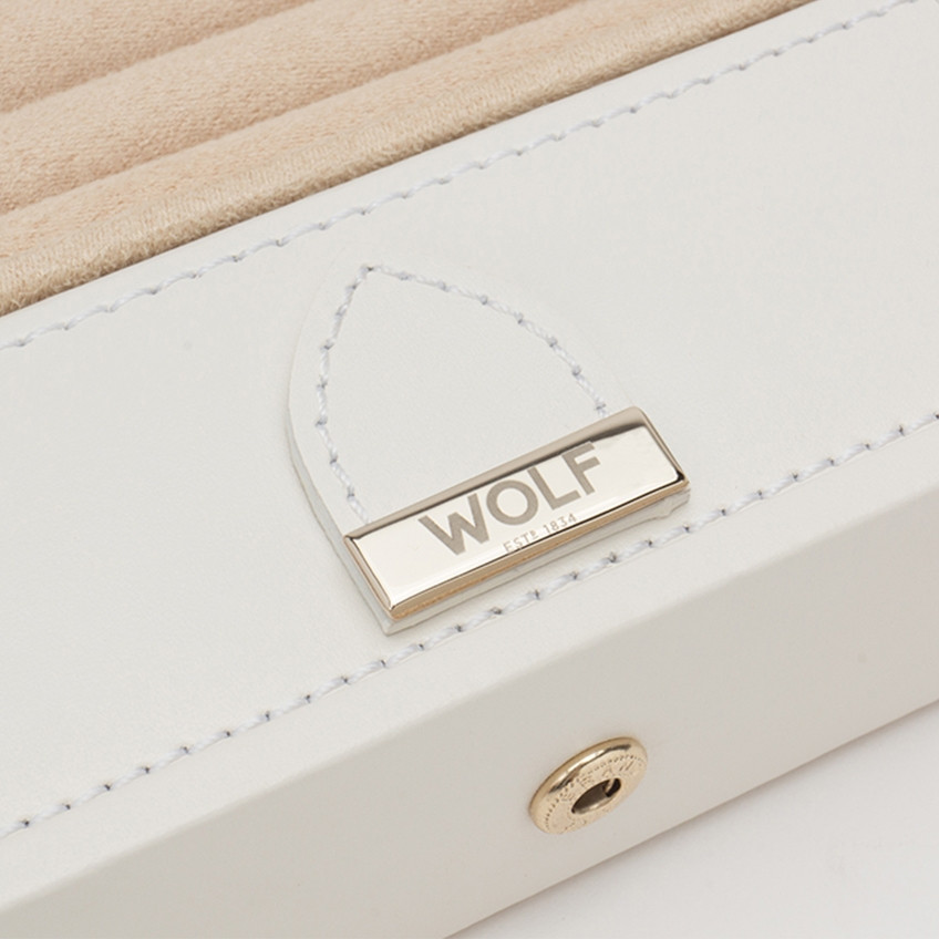 Wolf Cream Leather Marrakesh Safe Deposit Box