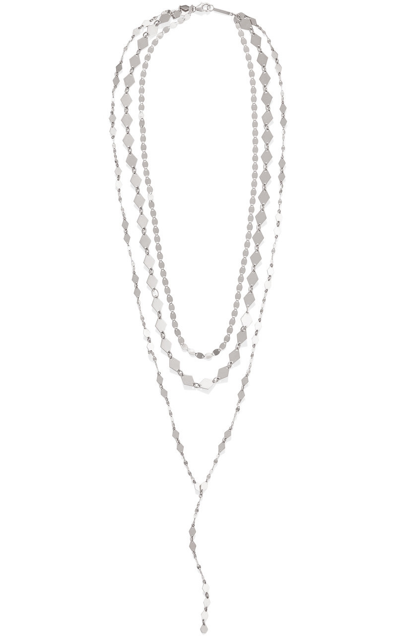 Lana Layered Lariat Necklace in White Gold