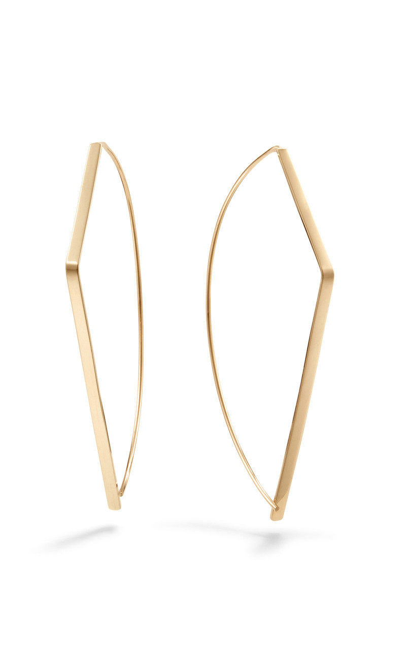 Lana Upside Down 30MM Hoop Earrings front