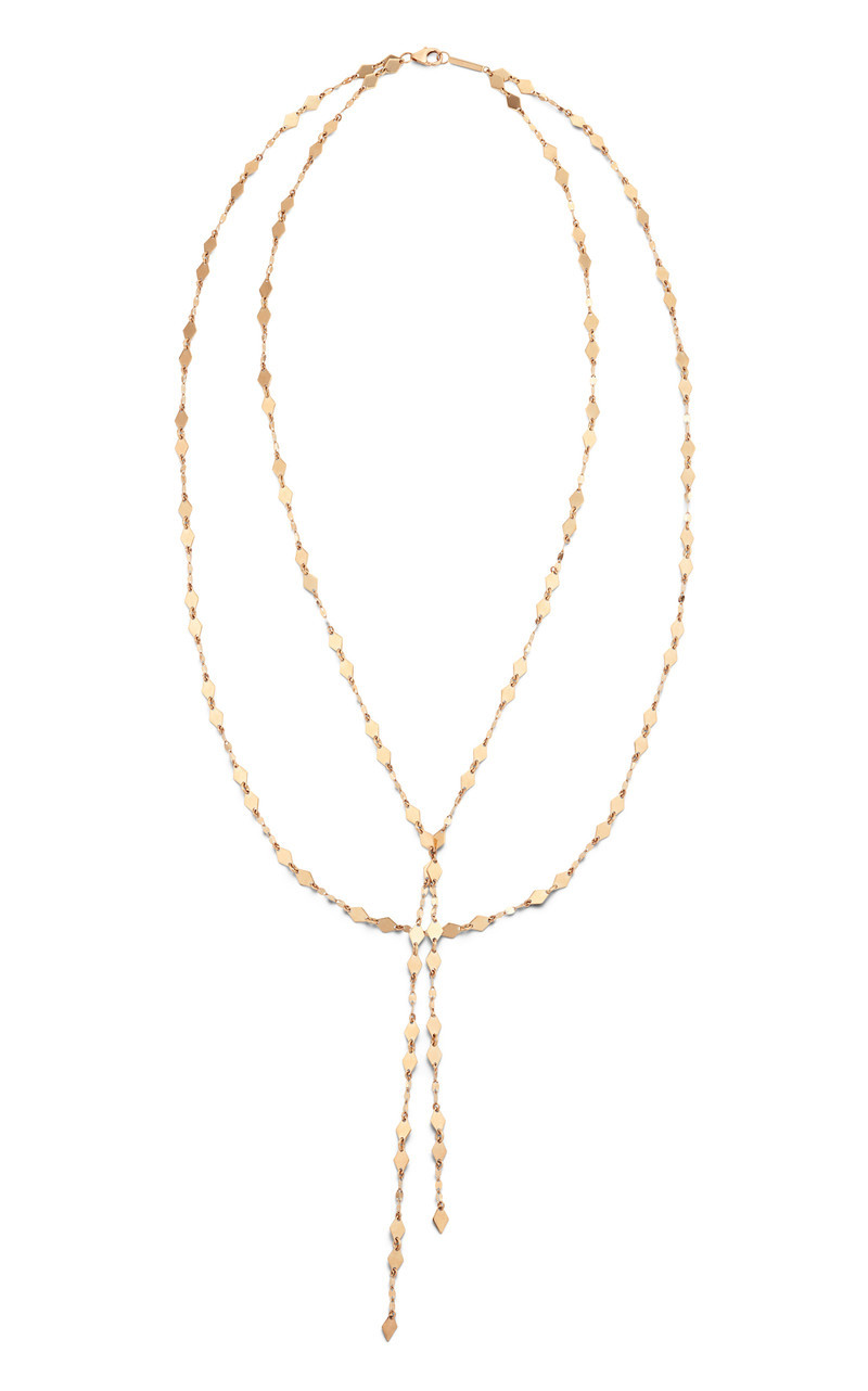 Lana Multi Chain Yellow Gold Lariat Necklace front image