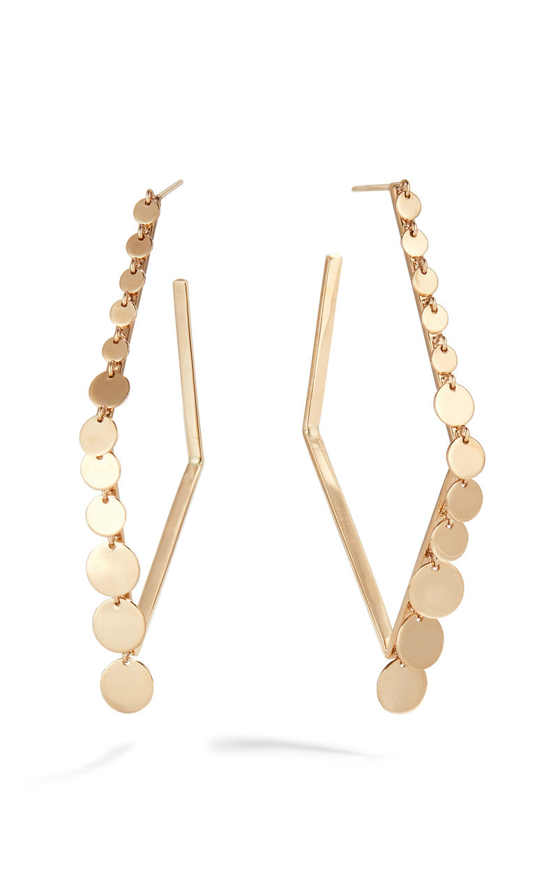 Lana Disc Geometric 50MM Hoop Earringss  front