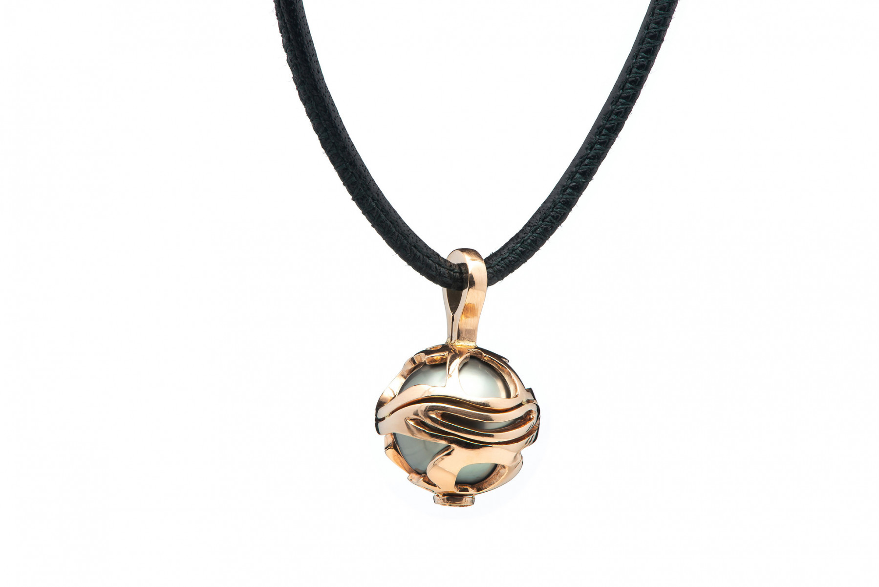 William Henry Wisdom Embrace Rose Gold South Sea Pearl Pendant Necklace Front View