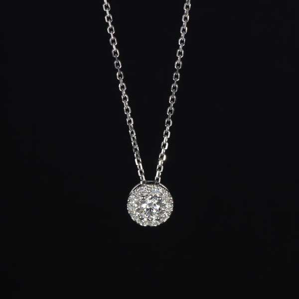 Forevermark The Center of My Universe Diamond 18kt White Gold Necklace