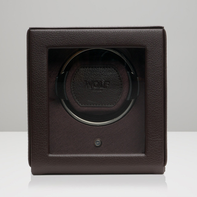 Wolf Small Brown Leather Cub Watch Winder