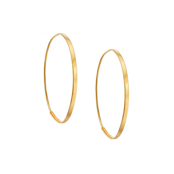 Lana Yellow Gold Small Flat Magic Hoop