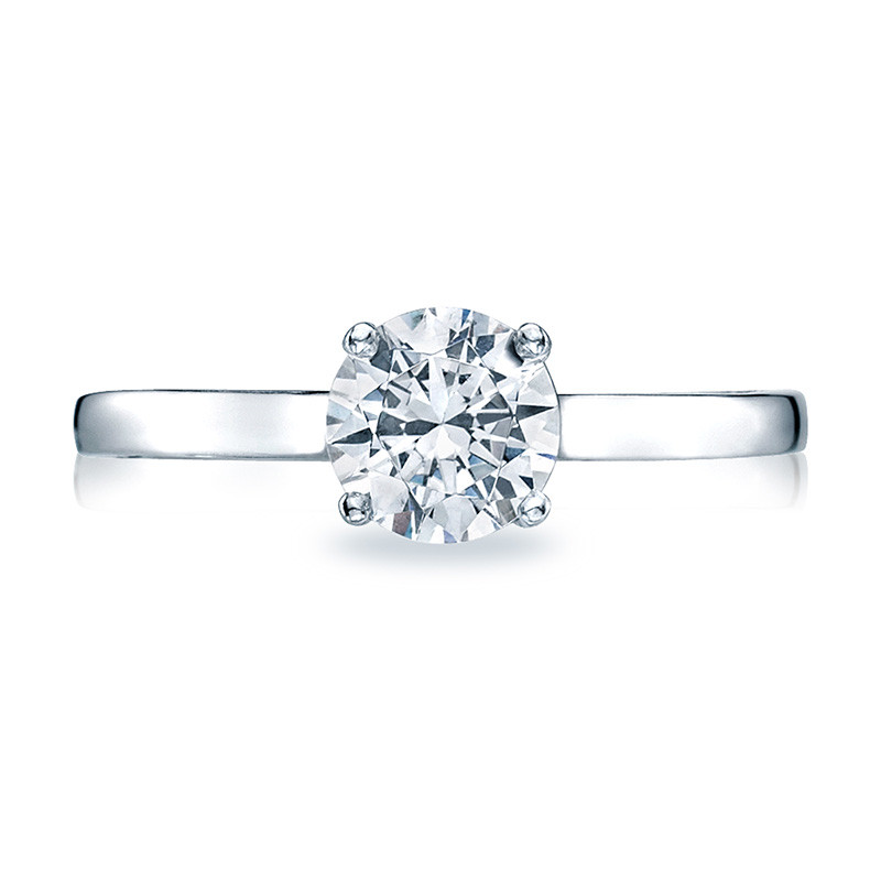 Tacori 48RD5 Solitaire White Gold Engagement Ring Sculpted Crescent Setting Top View