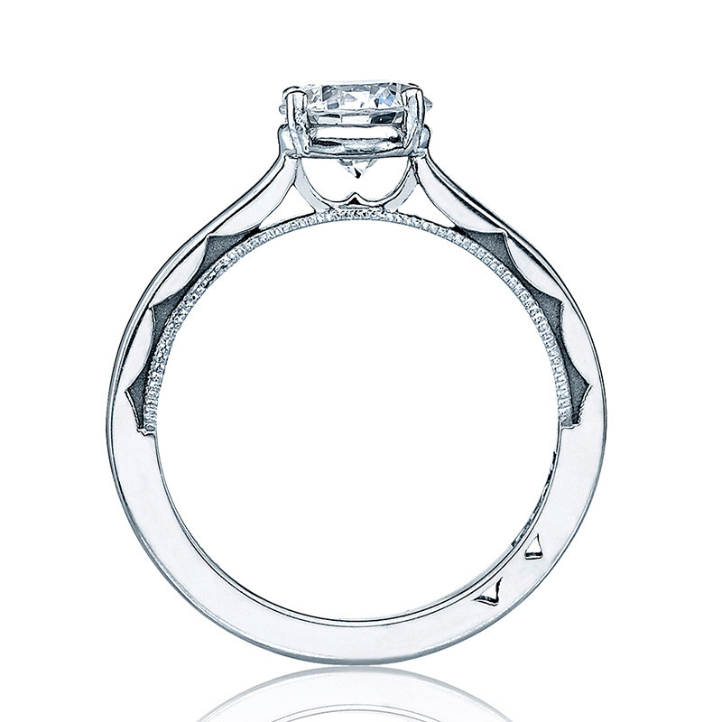 Tacori 48RD Solitaire Engagement Ring Sculpted Crescent Setting Edge View