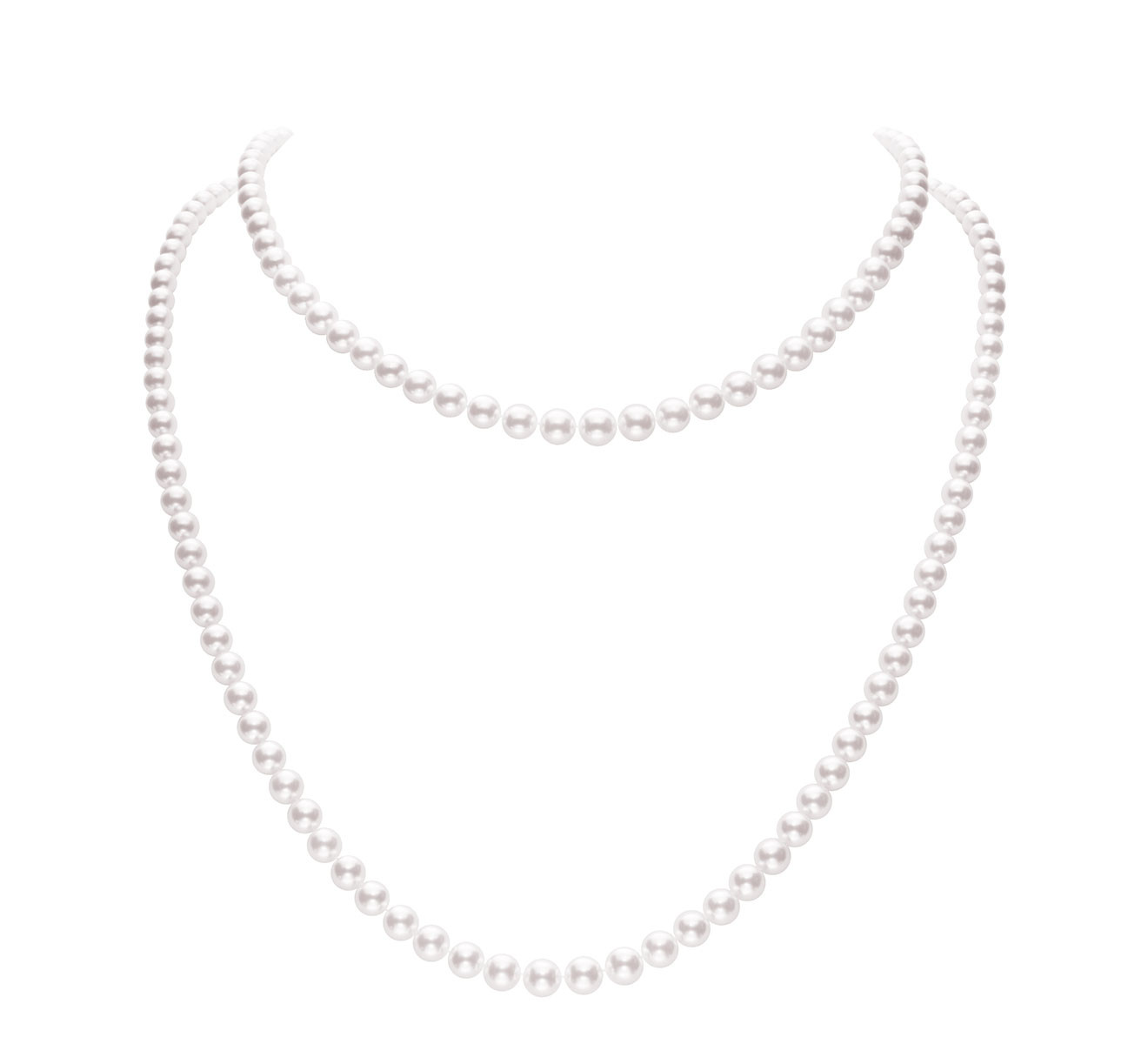 Mikimoto Adjustable Double Strand Akoya Pearl Necklace Model View
