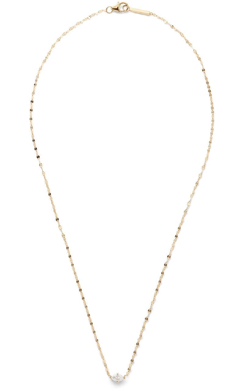 "Lana Vice Solo Marquis Pendant 18"" Necklace in Yellow Gold"