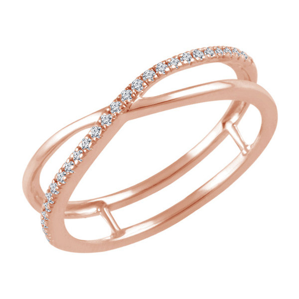 Rose Gold Diamond Crossover Ring