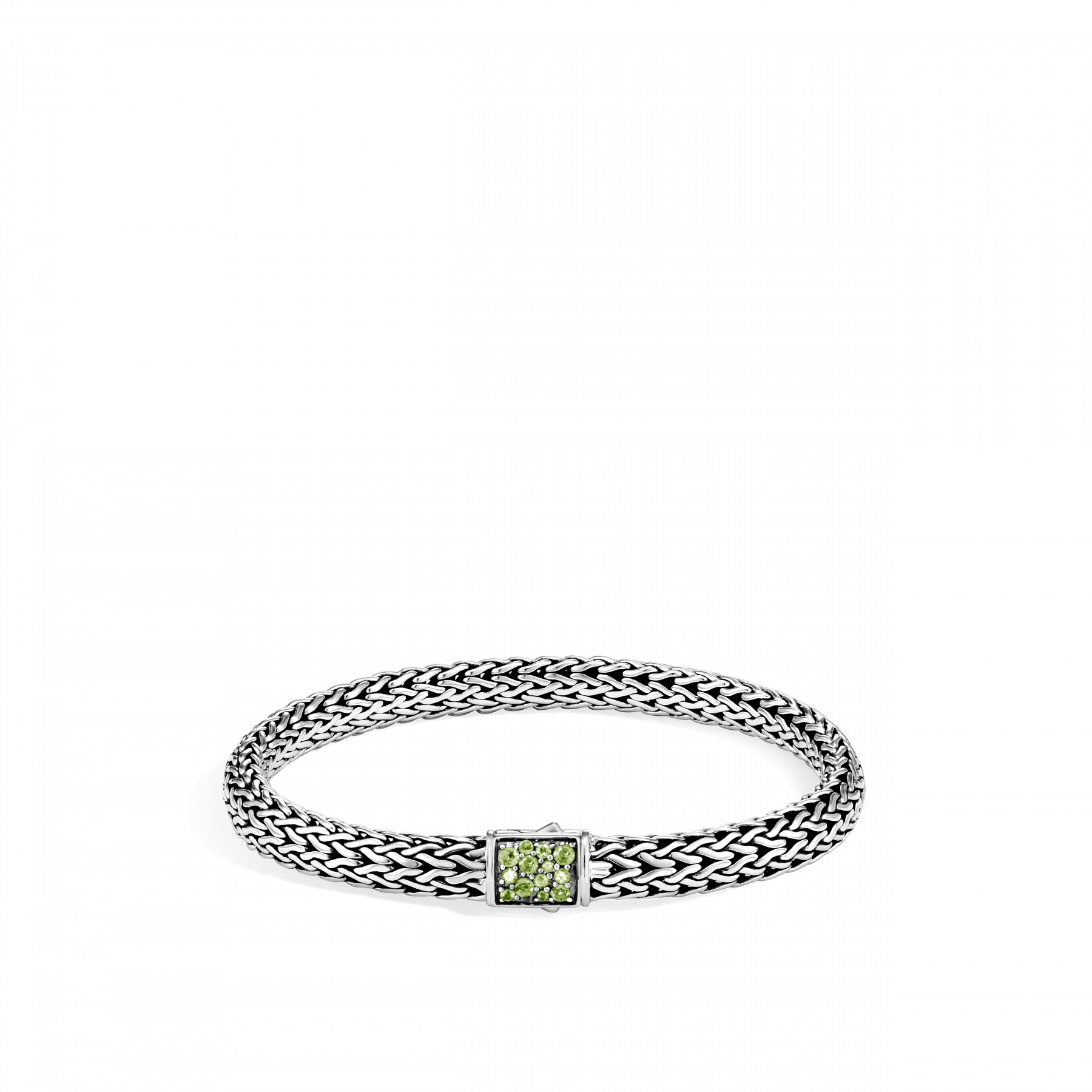 John Hardy Classic Chain Diamond and Peridot Bracelet - 6.5MM FRONT IMAGE