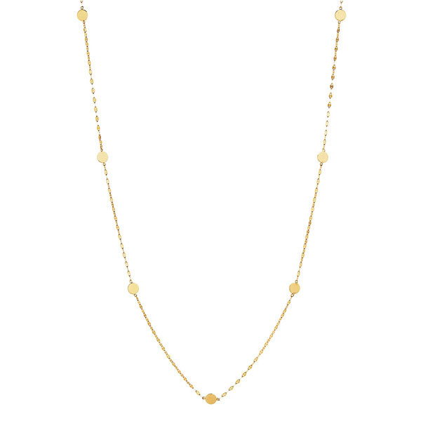 Lana Ombre Gold Disc Necklace