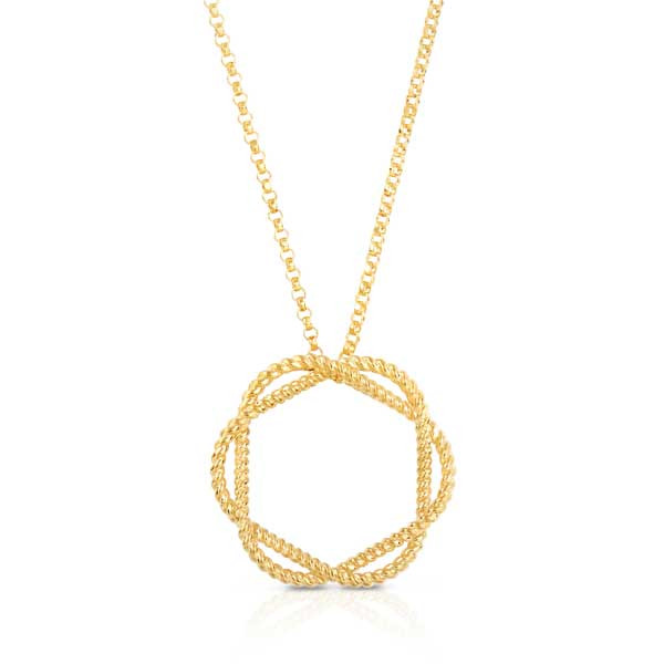 Roberto Coin New Barocco Braided Pendant