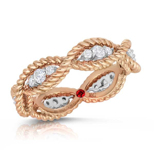 Roberto Coin Diamond Braided Ring