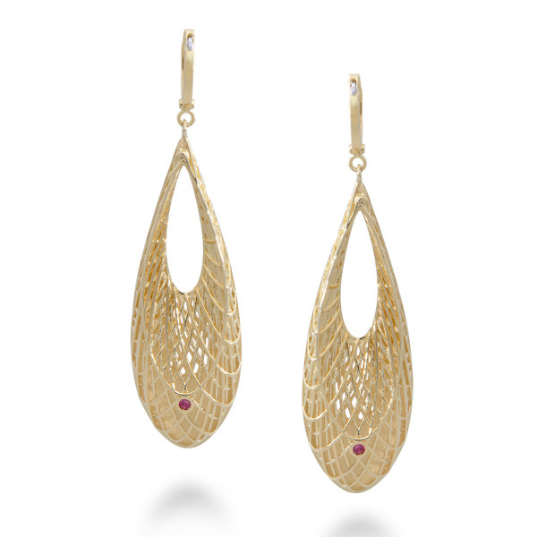 Golden Gate Drop Earrings Back