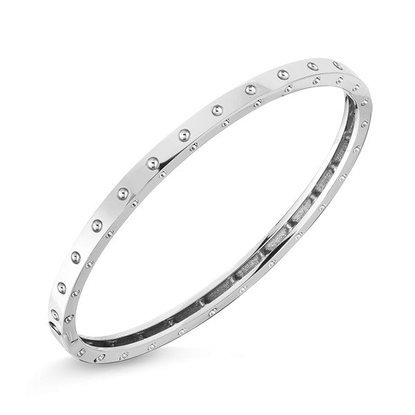 Roberto Coin White Gold Symphony Pois Moi Bangle