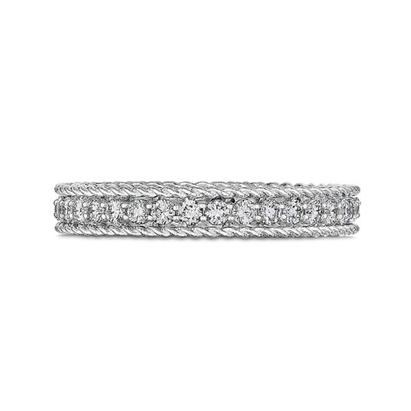 Roberto Coin White Gold Symphony Princess Diamond Ring