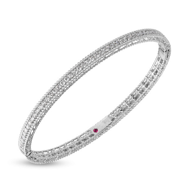 Roberto Coin White Gold Symphony Princess Diamond Bangle