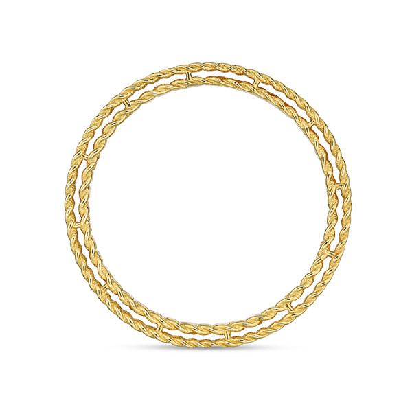 Roberto Coin Yellow Gold Symphony Golden Gate Ring Side View