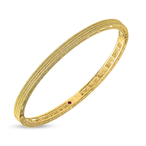 Roberto Coin Yellow Gold Symphony Barocco Bangle