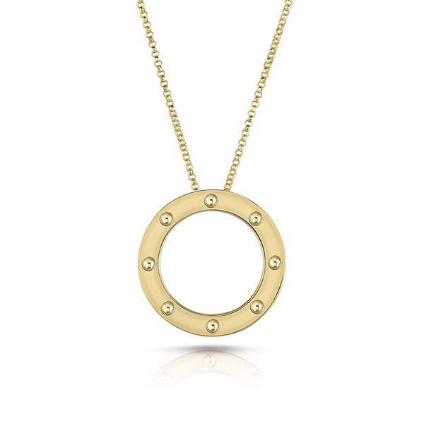 Roberto Coin Pois Moi Circle Pendant Necklace