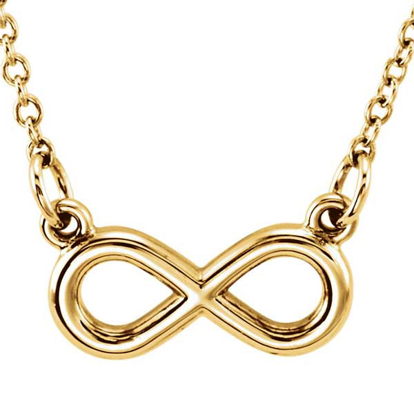 Yellow Gold Infinity Necklace