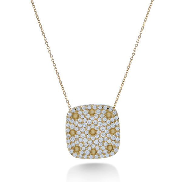 Roberto Coin Yellow Gold Pois Moi Diamond Pendant Necklace