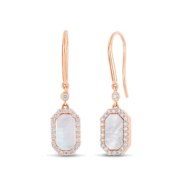 Roberto Coin Mother of Pearl & Diamond Drop Earrings