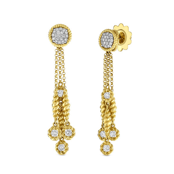 Roberto Coin New Barocco Dangle Diamond Earrings
