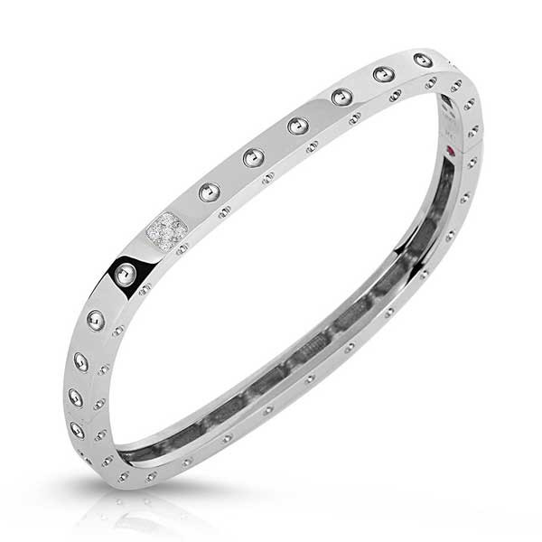Roberto Coin Pois Moi Single Row Bangle
