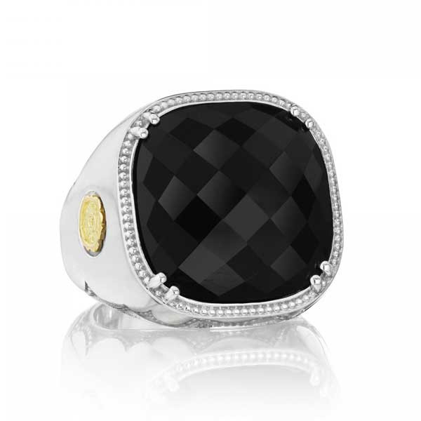 Tacori 18K925 City Lights Black Onyx Square Ring
