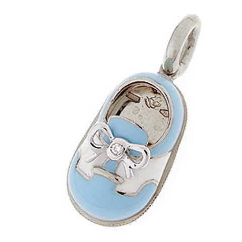 Aaron Basha Light Blue & Saddle Shoe with Diamond Bow White Gold