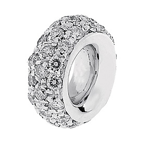 Aaron Basha Spacer 18kt White Gold with Full Pave Diamonds