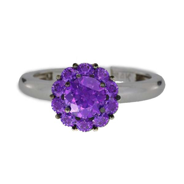 Color My Life Amethyst Ring in White Gold