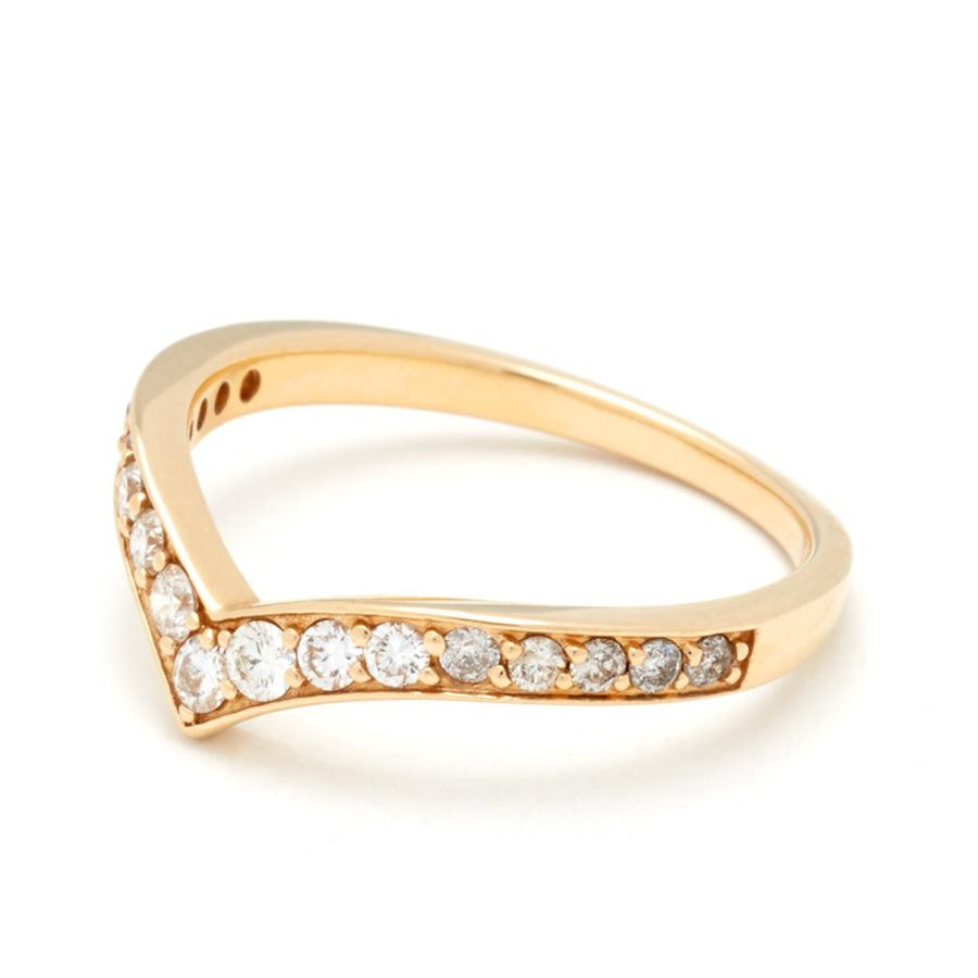 Anna Sheffield Orbit Diamond Ombre Band in 18K Gold angle 1